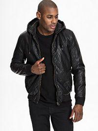 Kasse - NlyMan.com Leather Jacket, Jackets, Fashion, Cash Register, Studded Leather Jacket, Down Jackets, Moda, Leather Jackets, Fashion Styles