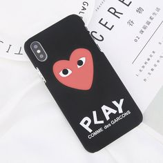 87f9e726ddbce3 Matte Love Heart Case For iPhone X Cute Cartoon Letter Phone Cases For iPhone  6 6s 7 8 Plus Fashion Hard PC Back Cover