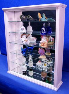 Items similar to Pink Wood Glass Wall Curio Cabinet Shelf or Tabletop Display on Etsy Wall Curio Cabinet, Curio Cabinets, Wall Shoe Rack, Wood Glass, Displaying Collections, Custom Woodworking, Display Shelves, Collection Displays, Rock Collection