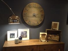 Davies & Co shop, Llandovery full of original items to sell.  Wooden clock, feather frames, local artists