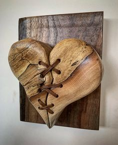 Hand carved olive wood with leather stitching mounted on Walnut back wall decor Wooden Art, Wooden Crafts, Wood Wall Decor, Wood Wall Art, Wood Carving Art, Wood Carving Designs, Wood Creations, Wood Sculpture, Barn Wood