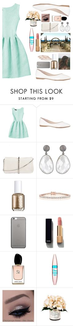 """""""casamento de dia!"""" by marcellabf ❤ liked on Polyvore featuring 3.1 Phillip Lim, Essie, Collette Z, Native Union, Chanel, Armani Beauty, Maybelline and Creative Displays"""