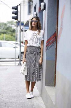 Юбка с кроссовками: спорт-стиль в 2017 году ♡ ♡ Будь в курсе модных тенденций! ♡ Читай ЯвМоде