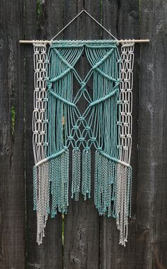 *** This is a custom listing reserved for Nicole ***    Macramé is one of the most stunning and classic forms of art the 1970s has left with us.
