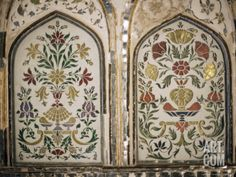 Interior Detail, Amber Fort, One of the Great Rajput Forts, Amber, Near Jaipur, India Photographic Print