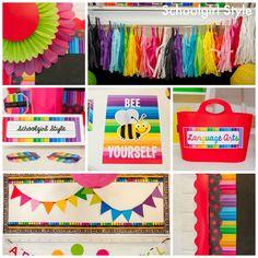 Happy Rainbow Chalkboard By Schoolgirl Style I Love The COLORS Preschool Classroom DecorNew ClassroomClassroom ThemesClassroom