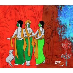 Artist: Chetan Katigar Size: X inch (WxH) Painting: Acrylic on Canvas Artwork: Original Canvas Artwork, Friendship Art, Canvas, Painting, Art
