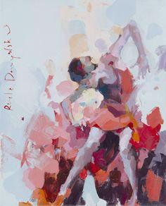 Secretly  (no. 27/2014). Author - Renata Domagalska. Year 2014. Media - acrylic on canvas, satin varnish. Size 33x27 cm.* For sale !