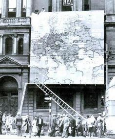 Map Erected in Adderley Street.  This was to familiarise people with the war front during WW II