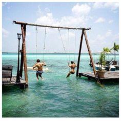 Water swing set