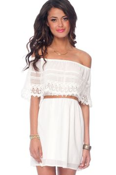 'Catarina' Off Shoulder Dress from Honey Punch [on sale for $43 from tobi]