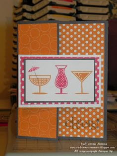 Happy Hour and Polka Dot Parade DSP. Pumpkin Pie, Real Red, Basic Gray