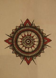 #mandala #flower #geometry #dotwork #flash #illustration