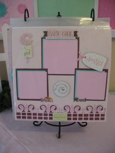 Scrapbook page for baby girl