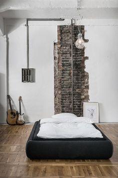 Industrial Bei Houzz: Loft Style Wohnen Dank Industrial Chic  Wandgestaltung, Schlafzimmer, Gewerbe