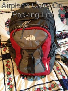 Carry on packing list. Great for college students!
