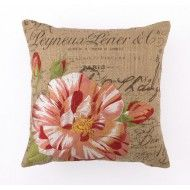 $1 our of every $5 goes to our charity! Candystriped Rose Embroidered Pillow