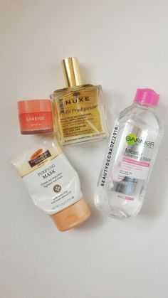 Skin care and hair care #garnier #nuxe #laneige #kbeauty #beauty #skincare