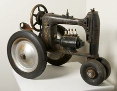 This Tractor is Pretty Fantastic, It's an Old Sewing Machine! #baseballhacks