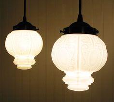 milk glass lights