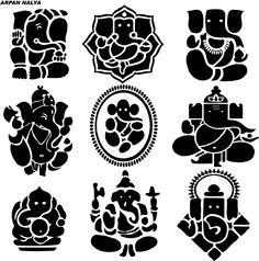 ૐ Ganesha ૐ Ganesha Drawing, Ganesha Painting, Ganesha Art, Lord Ganesha, Indian Gods, Indian Art, Elefante Tattoo, Ganesh Tattoo, Stencils
