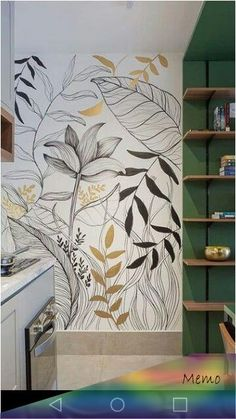 Wall Painting Decor, Mural Wall Art, Wall Design, Decoration, Bedroom Decor, Walls, Sheer Number, Future, Wallpaper