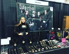 Super stoked for this afternoon! All set up and ready for action!! @wizardworld #wizardworld #wizardworldcomiccon #wizardworldportland #wizardworldpor #comiccon2018 #comiccon #anime #cosplay #jewelrydesigner #artists #orgeon #portland #weekend #event @oregonconventioncenter