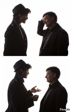 """Matt Smith & Steven Moffat.  """"What?  You don't like the hat?  Well it was either this or a sombrero so..."""""""