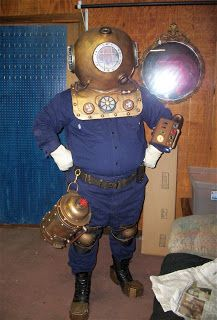 Steampunk Diving Helmet full costume - MRX Designs