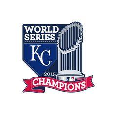 2015 MLB World Series Champions Kansas City Royals Collectors Pin With Trophy