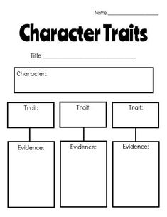 43 Ideas Book Club Anchor Chart Character Trait For 2019 Character Traits Graphic Organizer, Character Traits Activities, Graphic Organizers, Character Development, Character Personality Traits, Graphic Organizer For Reading, Character Education, Writing Topics, Third Grade Reading