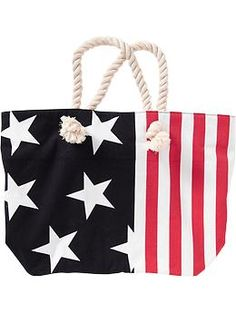 Red, White and Blue Tote Bag! Great for the Fourth of July!