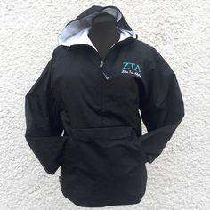 Zeta Tau Alpha Charles River Apparel Jacket - Embroidery by Cornerstone Impressions.  #Embroidery #Zeta #ZetaTauAlpha #CharlesRiver