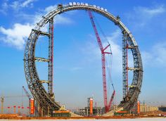"""Ring of Life"" - this is an unusual building in the city of Fushun, which belongs to the Chinese province of Liaoning. Unusual Buildings, Stargate, Under Construction, Amusement Park, Landscape Art, Architecture Design, Museum, China, Size Matters"