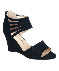 Love this Black Canny Wedge by Blossom on #zulily! #zulilyfinds