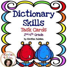 Dictionary+Skills+-+This+Dictionary+Skills+Task+Card+product+is+aligned+to+the+Common+Core.++The+functional+components+of+a+dictionary+are+described+on+instructional+sheets+and+include+guide+words,+phonetic+spelling,+parts+of+speech,+syllabication,+and+definitions.