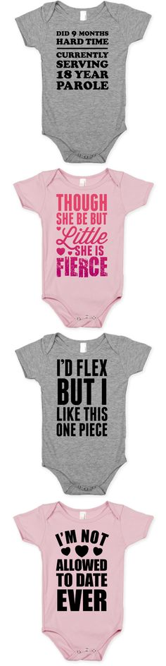 Funny baby onesies perfect for babies, infants, newborns, new moms, baby showers, etc.