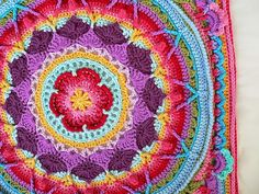 Paso a paso para tejer mandala alfombra con ganchillo