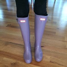 Hunter Boots Brand new with box. Color is Thundercloud. Not sure if I wanna sell these. I usually wear an 8.5 for reference and these fit great Hunter Boots Shoes Winter & Rain Boots
