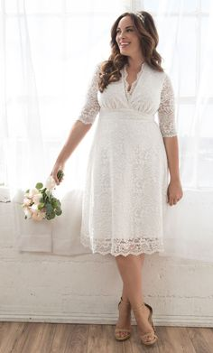 Say yes to forever in a plus size wedding dress that gives you confidence. Browse our plus size wedding dresses and bridal gowns and find the perfect match at Kiyonna Clothing. Plus Size Wedding Dresses With Sleeves, Plus Size Dresses, Plus Size Outfits, Plus Size Elopement Dress, Wedding Dresses For Curvy Women, Bridal Dresses, Wedding Gowns, Lace Wedding, Wedding Venues