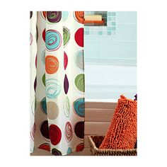 Simons Maison Drawn circles shower curtain featuring polyvore home bed & bath bath shower curtains colorful shower curtains