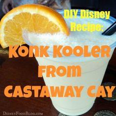 DIY #Disney #Recipe: Konk Kooler from Castaway Cay!