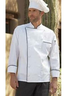 An Egyptian cotton chef coat, the Versailles coat will give you a regal look & help you work effectively in the kitchen. Buy an executive chef jacket today. Security Uniforms, Medical Uniforms, Executive Fashion, Executive Chef, Executive Style, Restaurant Uniforms, Maid Uniform, Medical Scrubs, Egyptian Cotton
