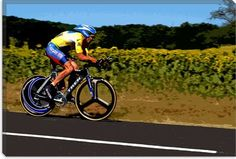 """iCanvasART Lance Armstrong Canvas Print Wall Art Picture #247 40""""x26"""""""
