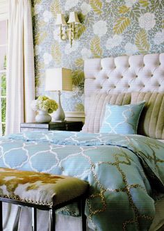 Who wouldn't want to wake up in this romantic glam bedroom?