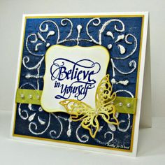 believe, butterfly, card, labels one, Ornate labels, papillions, quietfire, Spellbinders