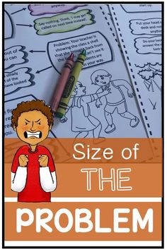 Size of the problem, behavior management, emotion control  and social skills. A packet to help students identify the size of a social  problem and appropriate response. Autism, asd, adhd. Students learn about how  others feel if you overreact to a problem that is small (have a big reaction to  a small problem).    #sizeoftheproblem #emotions #behavior  #socialskills #autism #asd #aba #behaviormanagement #problem #social #emotional  #socialemotional Problem Solving Activities, Social Skills Activities, Problem Solving Skills, Activities For Kids, Social Behavior, Behavior Management, Social Thinking, Student Learning, Task Cards