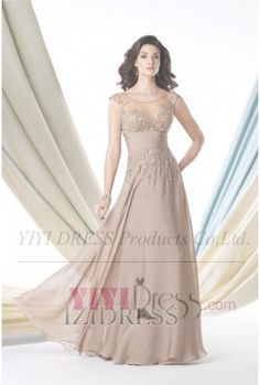 $147.99---A-Line/Princess Scoop Floor-length Chiffon Mother of the Bride