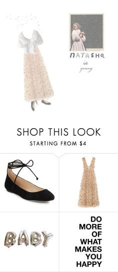 """""""natasha - the great comet of 1812"""" by mae-lia ❤ liked on Polyvore featuring Karl Lagerfeld, Valentino and American Eagle Outfitters"""