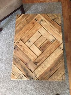 Rustic #Wood Pallet Coffee Table with Pattern | 101 Pallets